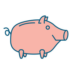 happy piggy bank or money box vector image