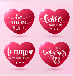hearts inscription vector image vector image