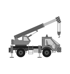 Heavy crane vector