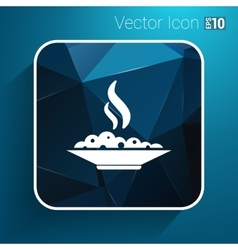 Hot meal cup steamy bowl food court logo vector image vector image