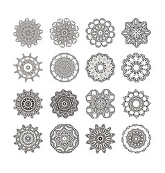 mandala set round ornament vector image