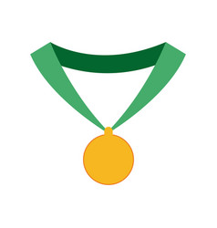 medal trophy winner sport icon vector image