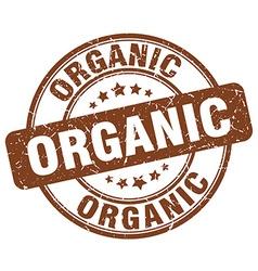 Organic brown grunge round vintage rubber stamp vector