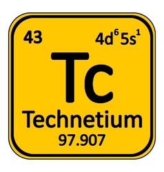 Periodic table element technetium icon vector image