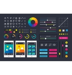 Photographic photo editor app icons ui elements vector