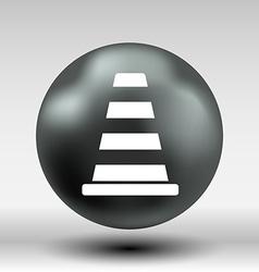 Road cone fence icon button logo symbol vector