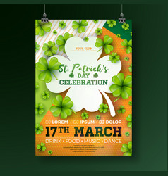Saint patricks day party flyer with vector