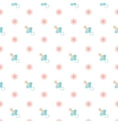 Seamless baby pattern Nipple vector image vector image