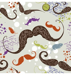 Seamless mustache vector image