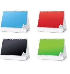 set blanks for desktop calendars vector image