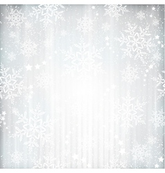 Silver winter Christmas background vector image vector image
