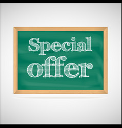 Special offer - the inscription chalk vector