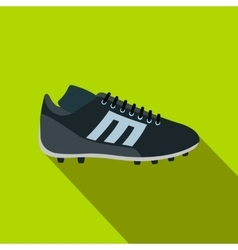 Sport shoe with cleats flat icon vector image vector image