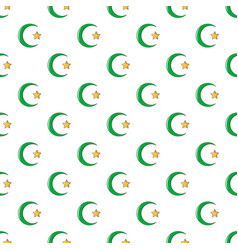 Starcrescent symbol of islam pattern seamless vector