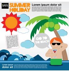 Summer holiday EPS10 vector image