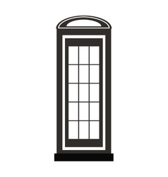 Telephone cab england isolated icon vector