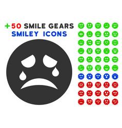 Tiers smiley icon with bonus emotion collection vector