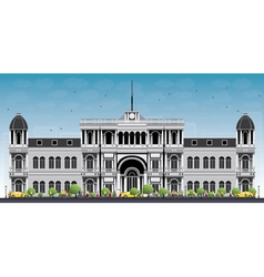University or college building vector image