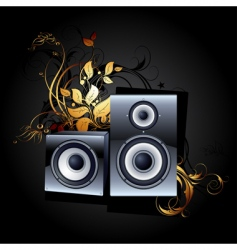 web icon speakers vector image vector image