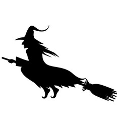 Wicked halloween witch silhouette vector