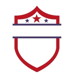 Shield america united states vector