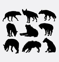 Hyena mammal wild animal silhouette 2 vector