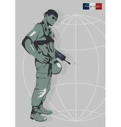 A soldier of the foreign legion vector