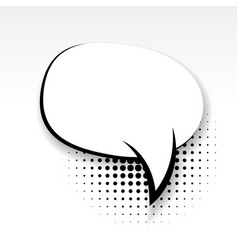 comic oval empty paper babble soft shadow vector image