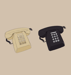Old vintage retro telephone vector