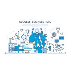 Success at work communication leadership vector