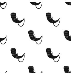 Viking horn icon in black style isolated on white vector