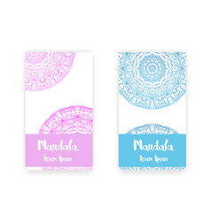 Card with mandala decorative elements background vector