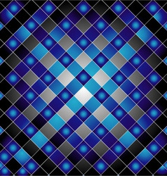 Blue metal grid background vector