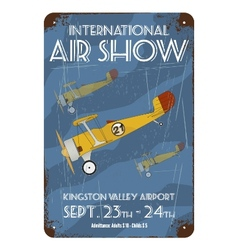 Vintage air show poster design vector