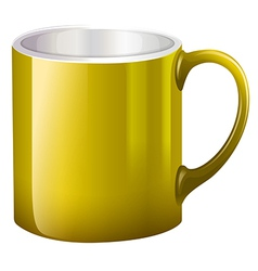 A big yellow mug vector