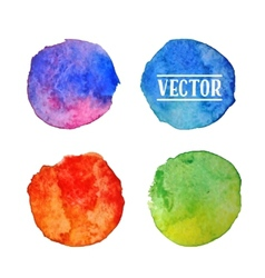 Watercolor circles stains set isolated on white vector