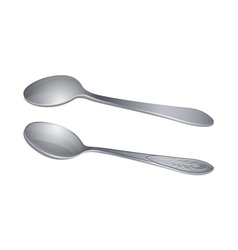 Pair of teaspoons vector