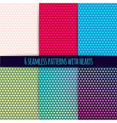 6 seamless patterns with hearts easy tiling Can be vector image