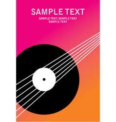 poster music vector image