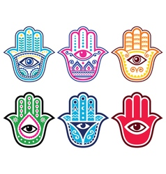 Hamsa hand hand of fatima - amulet protection vector