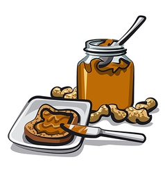 Peanut butter vector