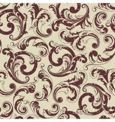 Baroque pattern vector