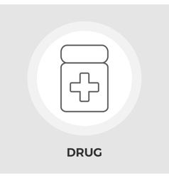 Drug flat icon vector