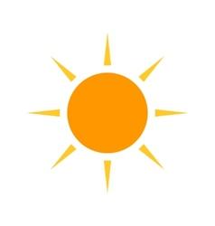 Blazing sun vector