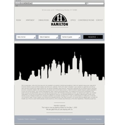 Business template web site vector image vector image