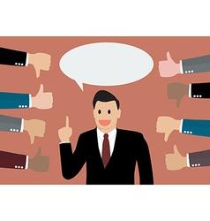 Businessman feedback vector