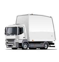 Cartoon delivery or cargo truck vector image vector image