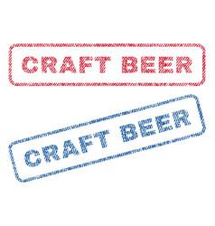 Craft beer textile stamps vector