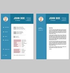 CV and Cover Letter vector image vector image