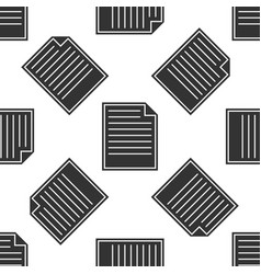 document icon seamless pattern on white background vector image vector image